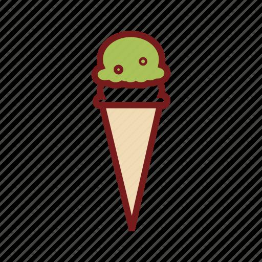 cone icecream, delicious food, dessert, food, ice cream, icecream, sweet icon