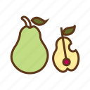 food, fruits, healthy food, nutrition food, pears icon