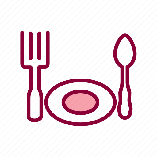dinner set, fork, fork and spoon, meal, restaurant, spoo icon