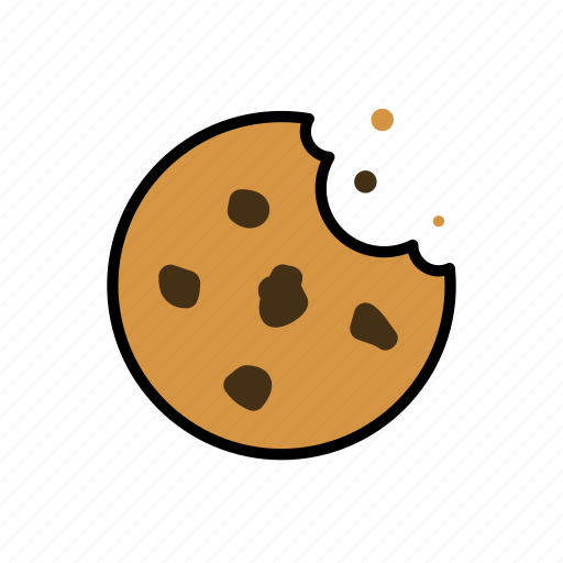 biscuits, chocolate, chocolate chip cookies, cookie, crumbs, dessert icon