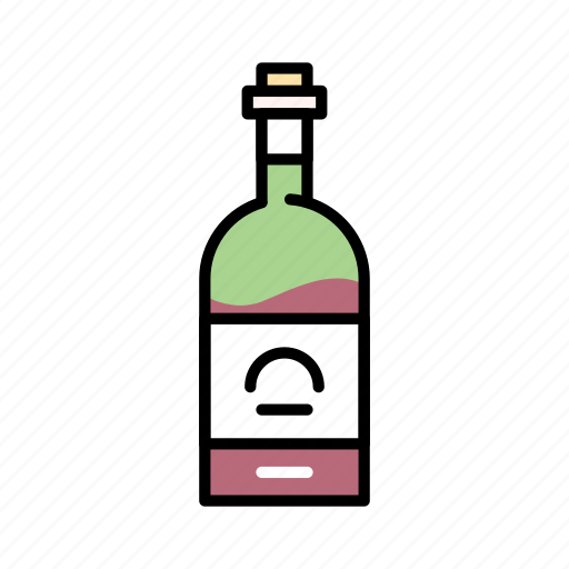alcohol, bottle, drink, red wine, spirits, wine icon