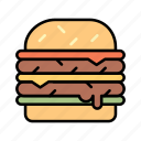 beef, burger, cheeseburger, chicken burger, fast food, hamburger icon