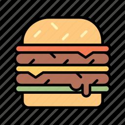 beef, burger, cheeseburger, chicken burger, fast food, hamburger icon