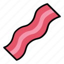 bacon, eat, food, meal, meat, pork, slice icon