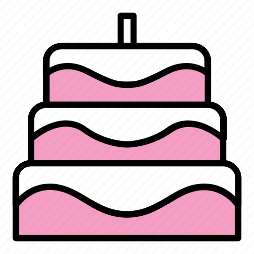 birthday, cake, candle, cooking, dessert, food, party icon