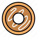 breakfast, chocolate, donut, eat, fast food, food, meal icon