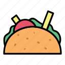 breakfast, fast food, food, meat, sandwich icon