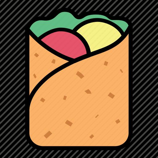 breakfast, crepes, eat, food, kebab, meal, meat icon