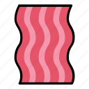 bacon, breakfast, food, meal, meat, pork, slice icon