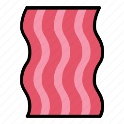 bacon, breakfast, food, meal, meat, pork, slice icon