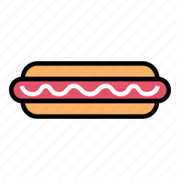 breakfast, fast food, food, hot dog, mayonaise, meat, sausage icon