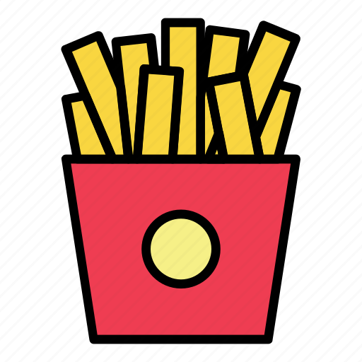 breakfast, fast food, food, french fries, meal, potato, restaurant icon