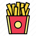 breakfast, eat, fast food, food, french fries, meal, potato icon