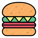 breakfast, burger, fast food, food, hamburger, meal, meat icon