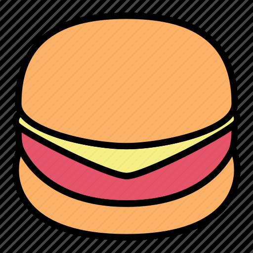 breakfast, burger, fast food, food, hamburger, meal, meat icon