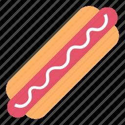 breakfast, fast food, food, hot dog, mayonaise, sausage icon