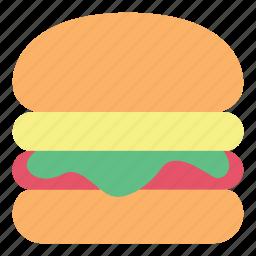 breakfast, burger, fast food, food, hamburger, meat icon