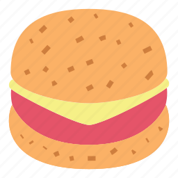 breakfast, burger, fast food, food, harmburger, meat icon