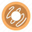 breakfast, chocolate, cream, donut, food icon