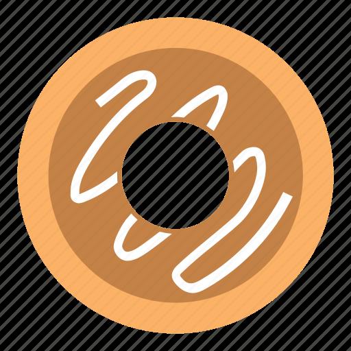 breakfast, chocolate, cream, donut, food icon