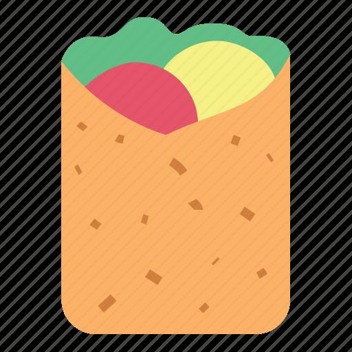 breakfast, crepes, fast food, food, kebab, meat icon