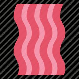 bacon, food, meat, pork, slice icon