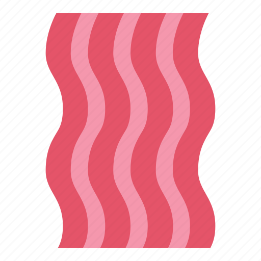 bacon, food, meat, pork, slice icon