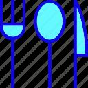 cutlery, eating, fork, knife, spoon, tableware, untensil