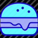 burger, cheeseburger, cook, fast food, hamburger, junk food, meal icon