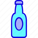 beer, bottle, container, drink, milk, sauce, water