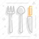 cutlery, eat, fork, knife, spoon icon