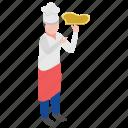 food serving, food tray, hotel servant, restaurant waiter, waiter icon