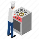 cooking kiosk, cooking stove, egg fry, gas stove, kitchen appliance icon