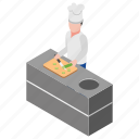 cutting vegetables, fresh food, fresh vegetables, making salad, natural food icon