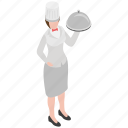 food serving, food tray, hotel servant, restaurant waiter, waitress icon