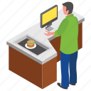 burger shop, burger stall, food corner, food court, food point icon
