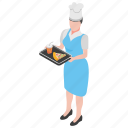 food serving, food tray, hotel servant, restaurant waiter, waiter icon
