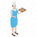 fast food, junk food, pizza chef, pizza serving, restaurant waiter icon