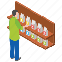 dairy product, milk pack, milk products, milk rack, tetra pack icon