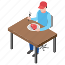 food court, food point, food stall, healthy food, steak meal icon