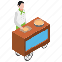 dough maker, dough puncher, fresh pizza, pizza maker, pizza preparation icon