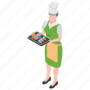 food court, healthy food, japanese dish, seafood, sushi serving icon