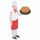 baker, chef, cook, dough puncher, pastry maker icon