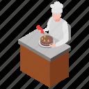 bakery appliance, cake baker, cake decoration, cake making, dessert