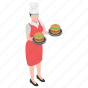 burger, fast food, hamburger, junk food, serving burger icon