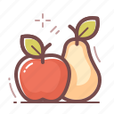 apple, food, pear icon