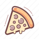 pizza, slice