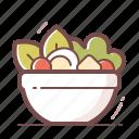 healthy, salad icon