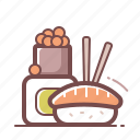 asian, roll, sushi icon