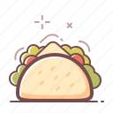 mexican food, taco icon